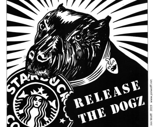 Venice Dog Protest Starbucks